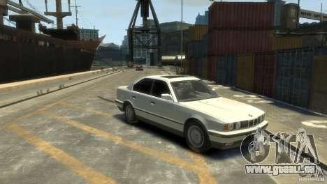 BMW 525i pour GTA 4 Vue arrière de la gauche