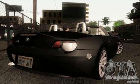 BMW Z4 für GTA San Andreas zurück linke Ansicht