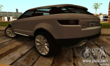 Land Rover Range Rover Evoque für GTA San Andreas zurück linke Ansicht