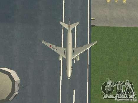 Boeing 777-200 Japan Airlines für GTA San Andreas Seitenansicht