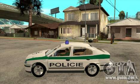 Skoda Octavia Police CZ pour GTA San Andreas laissé vue