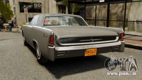 Lincoln Continental 1962 für GTA 4 hinten links Ansicht