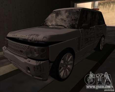 Land Rover Range Rover Supercharged pour GTA San Andreas vue arrière