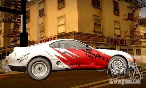 Toyota Supra JZA80 RZ Dragster für GTA San Andreas Seitenansicht