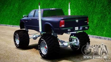 Dodge Ram 3500 2010 Monster Bigfut für GTA 4 hinten links Ansicht