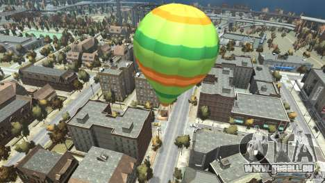 Balloon Tours option 10 für GTA 4 hinten links Ansicht