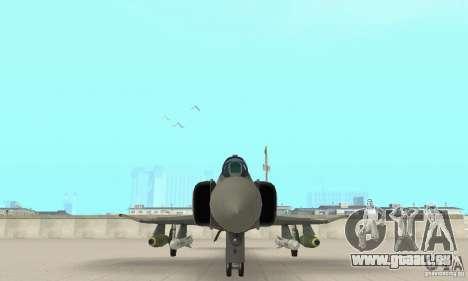 F-4E Phantom II für GTA San Andreas Innenansicht