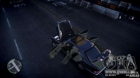 Mercedes w210 1998 (E280) pour GTA 4 est une vue de l'intérieur