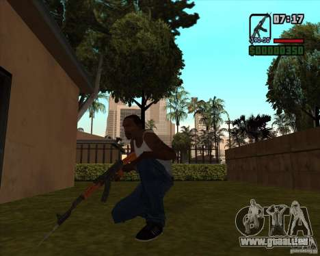AK-47 avec baïonnette pour GTA San Andreas