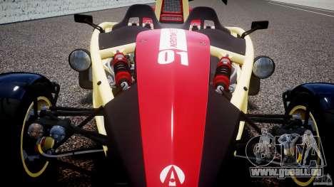 Ariel Atom 3 V8 2012 Custom Mugen pour GTA 4 vue de dessus