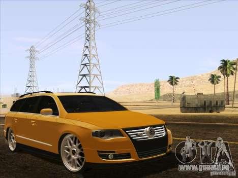 Volkswagen Passat B6 Variant für GTA San Andreas Unteransicht