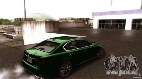 Lexus GS350F Sport 2013 pour GTA San Andreas laissé vue