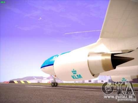 Airbus A330-200 KLM Royal Dutch Airlines pour GTA San Andreas vue intérieure