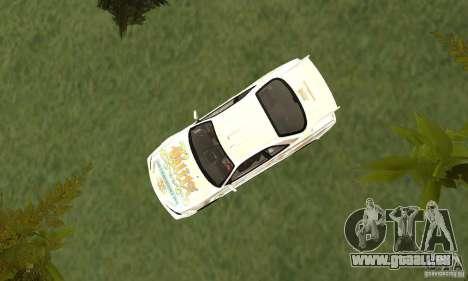 Nissan SkyLine R34 Tunable V2 pour GTA San Andreas vue arrière