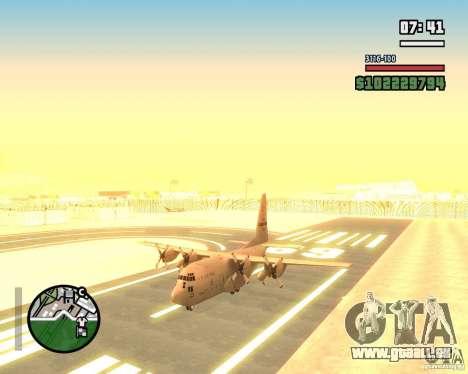 C-130 hercules für GTA San Andreas Rückansicht