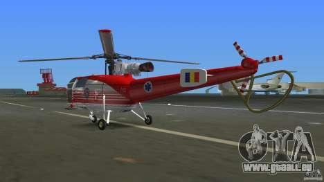 IAR 316B Alouette III SMURD für GTA Vice City rechten Ansicht