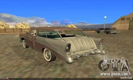 Chevrolet Bel Air Nomad 1956 pour GTA San Andreas vue de dessous