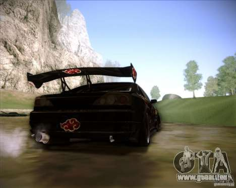 Nissan Silvia S15 with AKATSUKI paintjob pour GTA San Andreas laissé vue