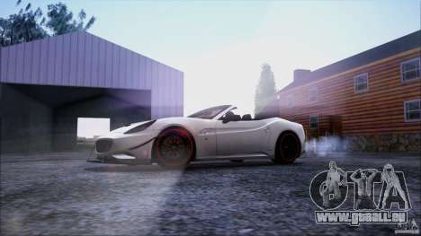 Ferrari California für GTA San Andreas Unteransicht