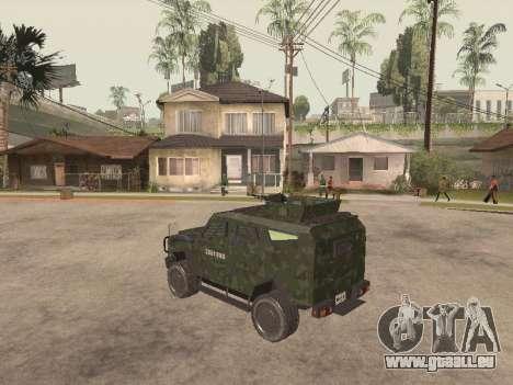Oshkosh SandCat of Mexican Army pour GTA San Andreas vue de droite
