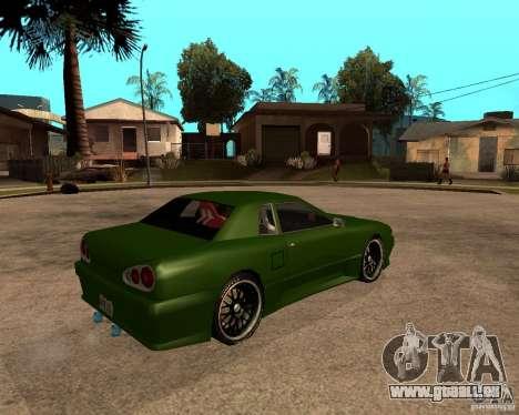 Elegy Green Line pour GTA San Andreas sur la vue arrière gauche