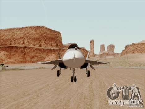 T-50 Pak Fa pour GTA San Andreas vue intérieure