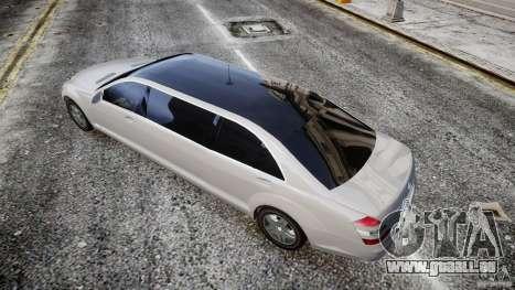 Mercedes-Benz S600 Guard Pullman 2008 für GTA 4 hinten links Ansicht