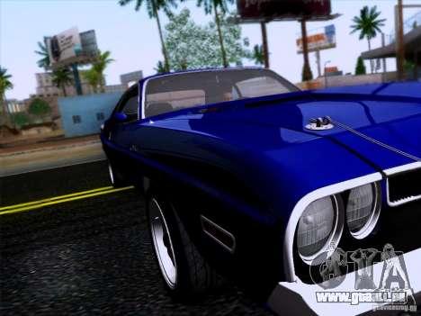 Dodge Challenger HEMI für GTA San Andreas zurück linke Ansicht