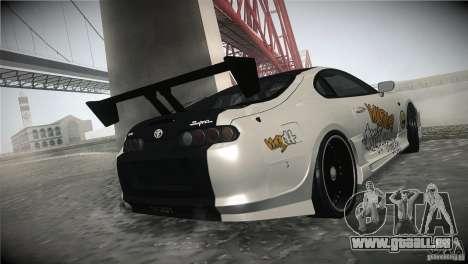 Toyota Supra MyGame Drift Team pour GTA San Andreas vue intérieure