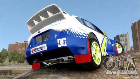 Subaru Impreza WRX STI Rallycross BFGoodric pour GTA 4 est une vue de l'intérieur