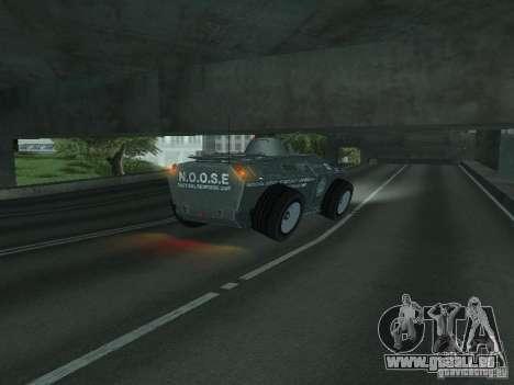 APC de GTA TBoGT FIV pour GTA San Andreas vue de dessus