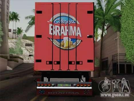 Trailer für Scania R620 Brahma für GTA San Andreas Rückansicht
