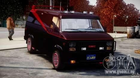 GMC Van G-15 1983 The A-Team pour GTA 4 vue de dessus