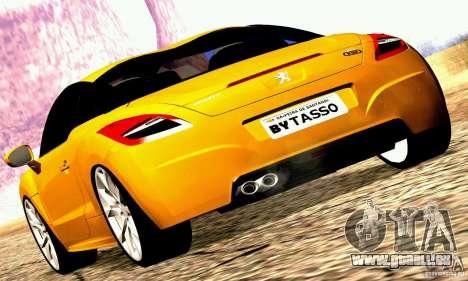 Peugeot Rcz 2011 pour GTA San Andreas laissé vue