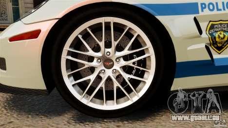 Chevrolet Corvette ZR1 Police pour GTA 4 est un côté