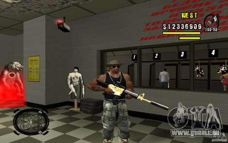 Gold Weapon Pack v 2.1 für GTA San Andreas sechsten Screenshot