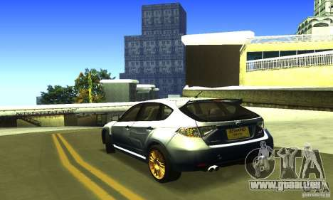 Subaru Impresa WRX STI 2008 pour GTA San Andreas laissé vue