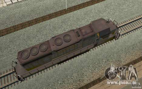 Clinchfield SD40 (Yellow & Grey) für GTA San Andreas Rückansicht