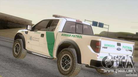 Ford Raptor pour GTA San Andreas sur la vue arrière gauche