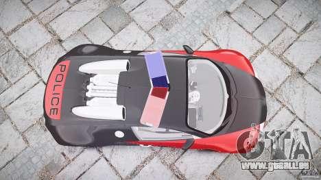 Bugatti Veyron 16.4 Police [EPM/ELS] pour GTA 4 vue de dessus
