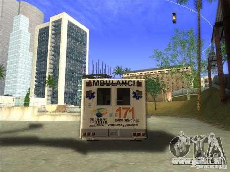 Ford E-350 Ambulance pour GTA San Andreas sur la vue arrière gauche