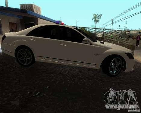 Mercedes-Benz S65 AMG W221 pour GTA San Andreas laissé vue