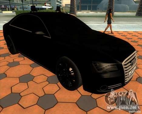 Audi A8 2010 v2.0 pour GTA San Andreas vue de côté