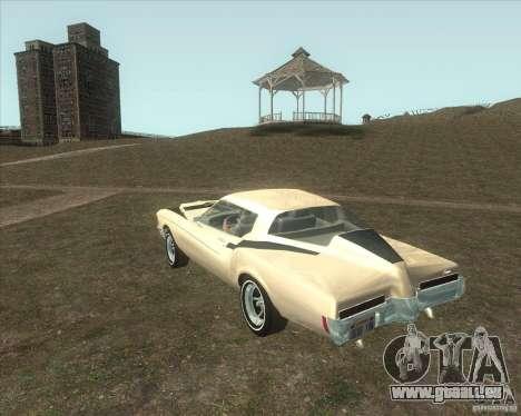 Buick Riviera Boattail 1972 tuned pour GTA San Andreas laissé vue