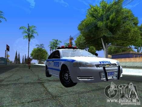 Chevrolet Impala NYPD für GTA San Andreas linke Ansicht
