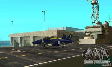 Blue Angels Mod (HQ) für GTA San Andreas Rückansicht