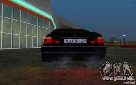 BMW M3 E46 pour GTA San Andreas vue de dessus