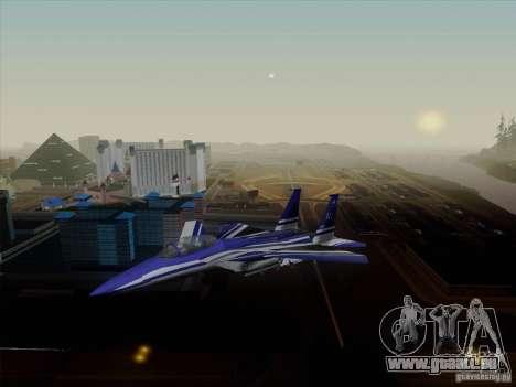 F-15 SMTD pour GTA San Andreas sur la vue arrière gauche