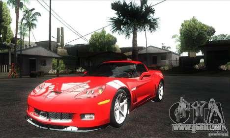 Chevrolet Corvette Grand Sport 2010 pour GTA San Andreas moteur