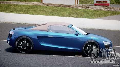 Audi R8 Spyder v2 2010 pour GTA 4 est une gauche